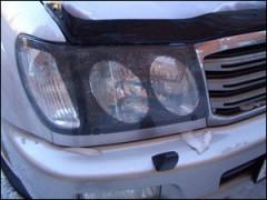 Защита фар для Toyota Land Cruiser 100 '05-07, карбон 2 шт. (EGR)