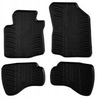 Коврики в салон для Citroen C1 2010 - 2014 резиновые, черные (GledRing)
