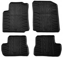 Коврики в салон для Citroen C2 2003 - 2010 резиновые, черные (GledRing)