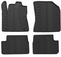 Коврики в салон для Citroen C3 с 2017 резиновые, черные (GledRing)