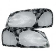 Защита фар для Toyota Land Cruiser Prado 120 '03-09 карбон 2 шт. (EGR)