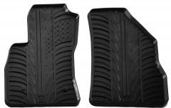 Коврики в салон передние для Fiat Doblo с 2010 резиновые, черные (GledRing)