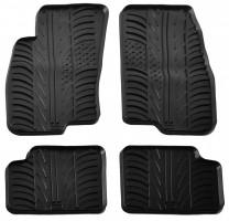 Коврики в салон для Fiat Grande Punto / Punto с 2005 резиновые, черные (GledRing)