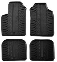 Коврики в салон для Fiat Panda 2003 - 2012 резиновые, черные (GledRing)