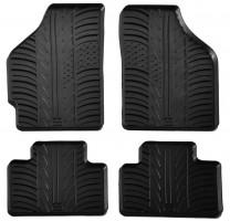 Коврики в салон для Fiat Punto 2000 - 2011 резиновые, черные (GledRing)
