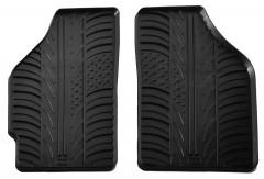Коврики в салон передние для Fiat Punto 2000 - 2011 резиновые, черные (GledRing)