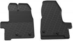 Коврики в салон передние для Ford Custom 2013 - 2016 резиновые, черные (GledRing)