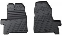 Коврики в салон передние для Ford Custom с 2016 резиновые, черные (GledRing)