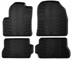 Коврики в салон для Ford Fiesta 2002 - 2009 резиновые, черные (GledRing)