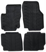Коврики в салон для Ford Mondeo 2011 - 2014 резиновые, черные (GledRing)