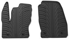 Коврики в салон передние для Ford Connect с 2016 резиновые, черные (GledRing)