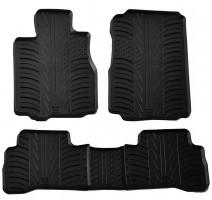 Коврики в салон для Honda CR-V 2006 - 2012 резиновые, черные (GledRing)