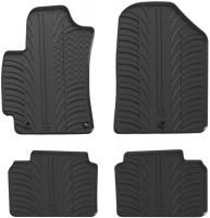 Коврики в салон для Hyundai Elantra AD с 2016 резиновые, черные (GledRing)