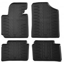 Коврики в салон для Hyundai Veloster с 2011 резиновые, черные (GledRing)