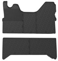 Коврики в салон для Iveco Daily '14- резиновые, черные (GledRing)