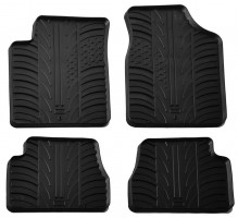 Коврики в салон для Kia Picanto 2004 - 2010 резиновые, черные (GledRing)
