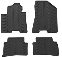Коврики в салон для Kia Sportage с 2016 резиновые, черные (GledRing)