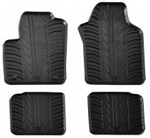 Коврики в салон для Lancia Ypsilon с 2011 резиновые, черные (GledRing)