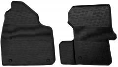 Коврики в салон передние для Mercedes Sprinter с 2006 резиновые, черные (GledRing)