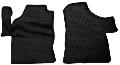 Коврики в салон передние для Mercedes Vito / Viano 2003 - 2013 резиновые, черные (GledRing)