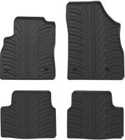 Коврики в салон для Opel Astra K с 2015 резиновые, черные (GledRing)