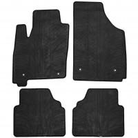 Коврики в салон для Opel Meriva 2003 - 2009 резиновые, черные (GledRing)