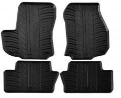 Коврики в салон для Opel Zafira B 2005 - 2013 резиновые, черные (GledRing)