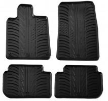 Коврики в салон для Peugeot 407 2004 - 2010 резиновые, черные (GledRing)