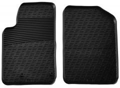 Коврики в салон передние для Peugeot Partner 2002 - 2008 резиновые, черные (GledRing)