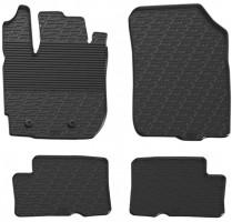 Коврики в салон для Renault Duster с 2015-2018, 4/2WD резиновые, черные (GledRing)