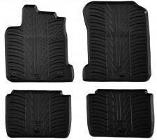 Коврики в салон для Renault Latitude 2010 - 2015 резиновые, черные (GledRing)