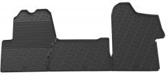 Коврики в салон передние для Renault Master с 2010 резиновые, черные (GledRing)