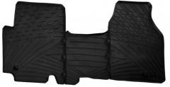 Коврики в салон для Renault Trafic 2001 - 2014 резиновые, черные (GledRing)