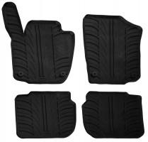Коврики в салон для Seat Toledo с 2012 резиновые, черные (GledRing)