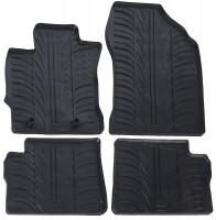 Коврики в салон для Toyota Auris с 2013 резиновые, черные (GledRing)