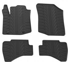 Коврики в салон для Toyota Aygo с 2015 резиновые, черные (GledRing)