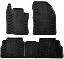 Коврики в салон для Toyota Verso 2009 - 2013 резиновые, черные (GledRing)