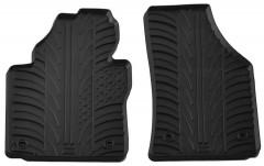 Коврики в салон передние для Volkswagen Caddy 2004 - 2015 резиновые, черные (GledRing)