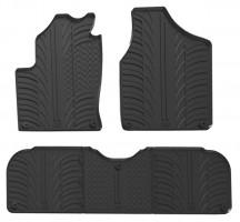 Коврики в салон для Volkswagen Sharan 2001 - 2010 резиновые, черные (GledRing)
