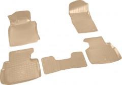 Коврики в салон для Infiniti Q50 с 2014, полиуретановые, бежевые (Nor-Plast)