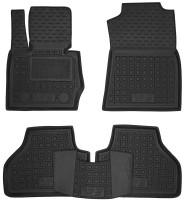 Коврики в салон для BMW X3 F25 2010 - 2017 резиновые, черные (AVTO-Gumm)