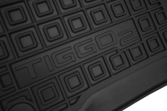 Фото 9 - Коврики в салон для Chery Tiggo 2 c 2016 резиновые, черные (AVTO-Gumm)
