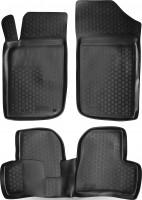 Коврики в салон для Peugeot 206 '06-09 полиуретановые, черные (L.Locker)