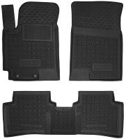 Коврики в салон для Hyundai Accent с 2017 резиновые, черные (AVTO-Gumm)