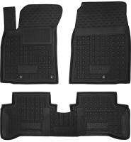 Коврики в салон для Hyundai Ioniq с 2016 резиновые, черные (AVTO-Gumm)