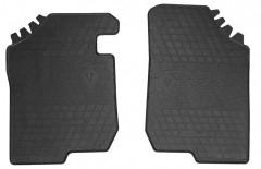 Коврики в салон передние для Kia Carens 2007 - 2012 резиновые, черные (Stingray)
