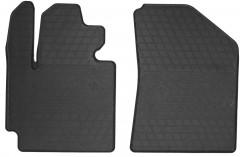 Коврики в салон передние для Kia Soul c 2014 резиновые, черные (Stingray)