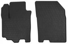 Коврики в салон передние для Suzuki SX4 '16- резиновые, черные (Stingray)