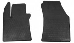 Коврики в салон передние для Renault Megane '16- резиновые, черные (Stingray)