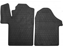 Коврики в салон передние для Mercedes V-Class W447 c 2014 резиновые, черные (Stingray)